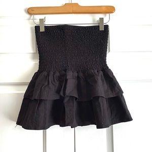 MAJORELLE Skirts - Majorelle Peaches Black Ruffle Skirt Sz. S